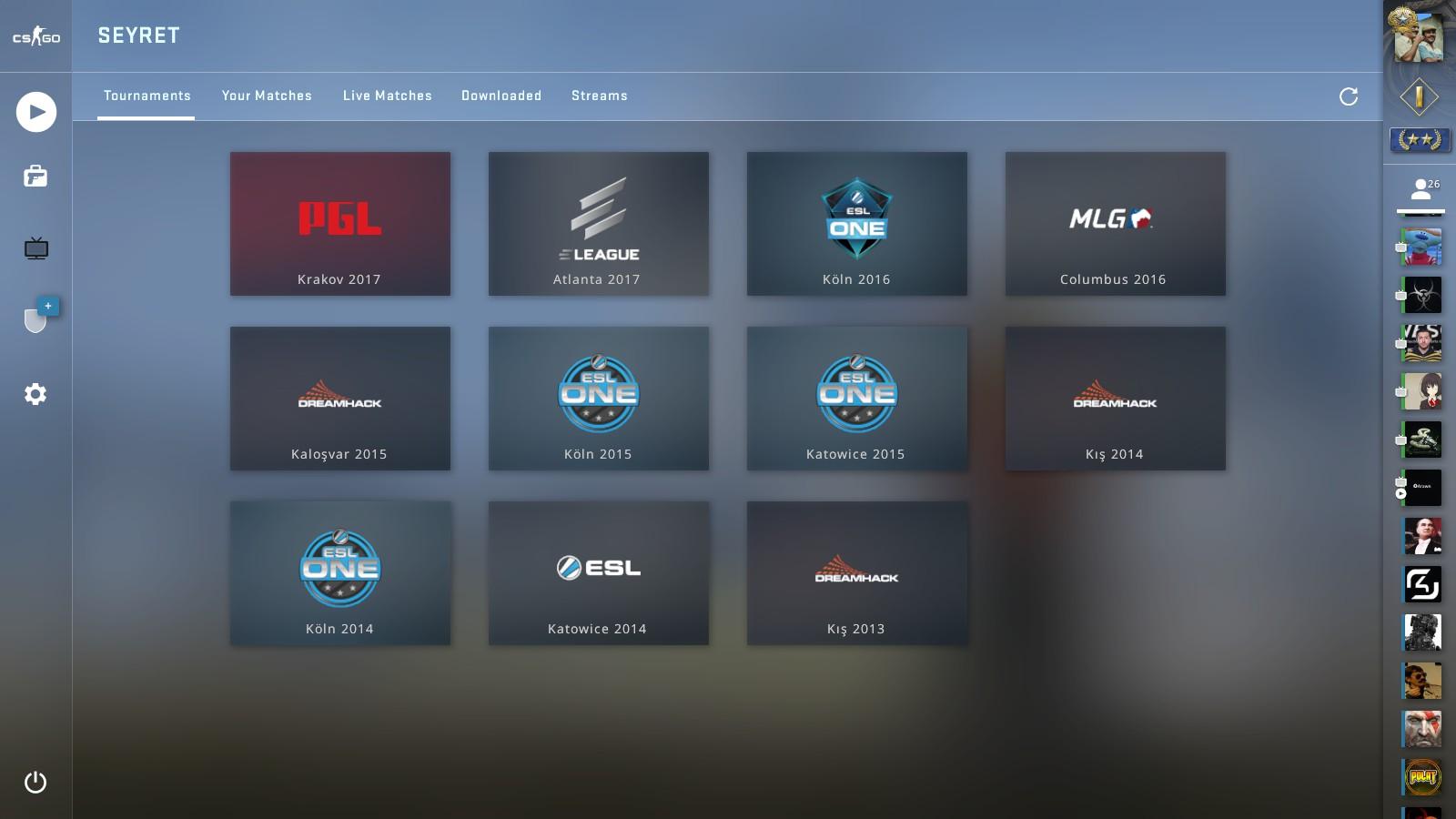 csgo yeni turnuva izleme ekranı